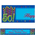 Great Birthday 50 Custom Banner 6ft