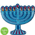 Light-Up Hanukkah Menorah Pin