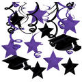Purple Graduation Swirl Decorations 30ct