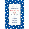 Blue Polka Dot Custom Invitation