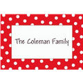 Red Patriotic Polka Dot Custom Thank You Note