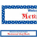 Blue Polka Dot Custom Banner