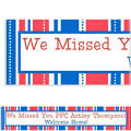 American Summer Stripes Welcome Home Custom Banner
