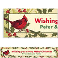 Holiday Tidings Custom Christmas Banner
