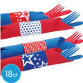 Patriotic Napkin Wraps 18ct