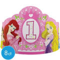1st Birthday Disney Princess Tiaras 8ct
