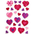 Patterned Heart Icing Decorations 24ct