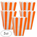 Orange Popcorn Favor Boxes 5ct