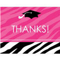 Zebra Party Graduation Thank You Notes 50ct