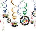 Multicolor Graduation Swirl Decorations 12ct