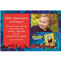 Sponge Bob Simply Custom Photo Invitation