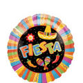 Foil Fiesta Balloon 18in