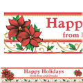 Winter Botanical Custom Christmas Banner