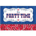 Bandana Western Invitations 8ct