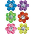 Flower Hair Spirals 6ct