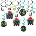 Celebrate 60th Birthday Swirl Decorations 12ct