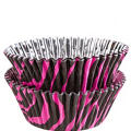 Pink Zebra Foil Baking Cups 36ct