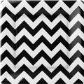 Black & White Chevron Dinner Plates 18ct