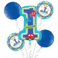 1st Birthday Balloon Bouquet 5pc - All Aboard
