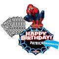 Happy Birthday Spider-Man Balloon - Personalized