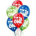 Wild at One Boy's 1st Birthday Balloons 15ct