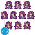 Sofia the First Cupcake Picks 24ct