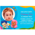 Bubble Guppies Custom Photo Invitation