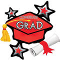 Red Star Graduation Cap Graduation Balloon