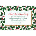 Seasonal Holly Custom Christmas Invitation