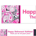 Custom Pink Paisley Banner 6ft
