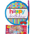 Dots & Stripes Happy Birthday Pinata Kit