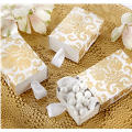 Gold Damask Drawer Favor Boxes