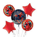 Spider-Man Balloon Bouquet 5pc - Orbz