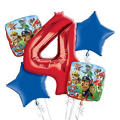PAW Patrol 4th Birthday Balloon Bouquet 5pc