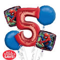 Spider-Man 5th Birthday Balloon Bouquet 5pc