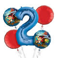 Jake and the Never Land Pirates 2nd Birthday Balloon Bouquet 5pc