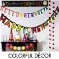 Colorful Brights New Year's Eve Decorations