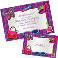 Custom Glitzy Girl Invitations & Thank You Notes