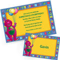 Custom Barney Invitations & Thank You Notes