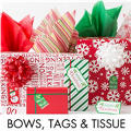 Christmas Bows, Gift Tags & Tissue