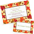 Custom Fall Invitations & Thank You Notes