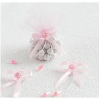 Pink Pacifier Baby Shower Favor Ties 6ct