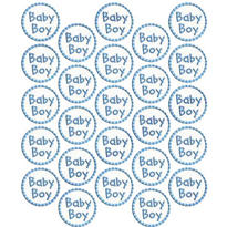 Baby Boy Sticker Seals 25ct