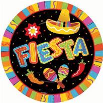 Fiesta Fun Dinner Plates 8ct