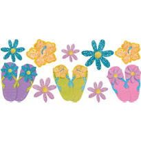 Fun in the Sun Glitter Cutouts 10ct