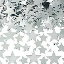 Metallic Silver Star Confetti 2 1/2oz