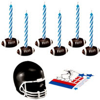 Football Cake Topper Set with Decals 14ct