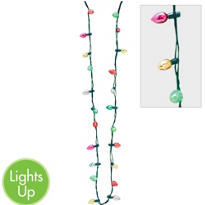 Light-Up Holiday Bulb Necklace 17in