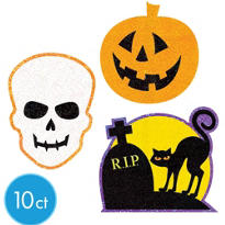 Gruesome Group Assorted Glitter Cutouts 10pc