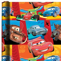 Cars Gift Wrap 8ft